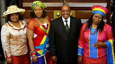 Zuma e esposa