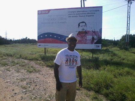 Típica propaganda chavista, comum em toda a Venezuela.