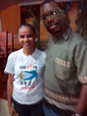Com Marina Silva, no lançamento da Rede Sustentabilidade em Manaus