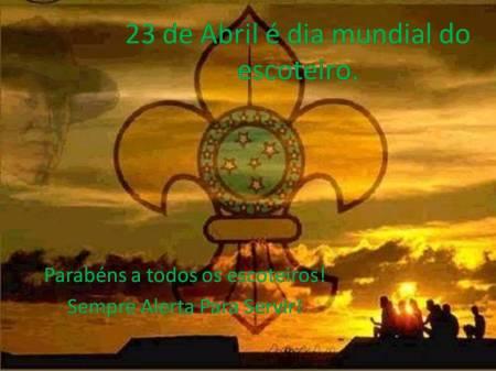 23 de Abril é dia mundial do escoteiro
