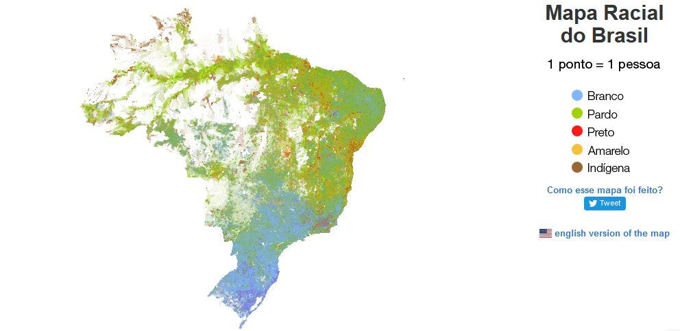 Mapa racial do Brasil